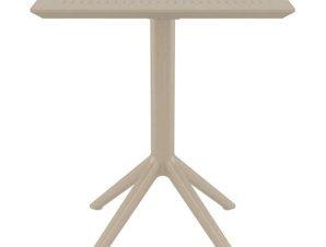 Τραπέζι Πτυσ/νο Sky 60Χ60X74εκ. Dove Grey Siesta 20.0281